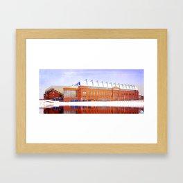 Ibrox in Winter Framed Art Print