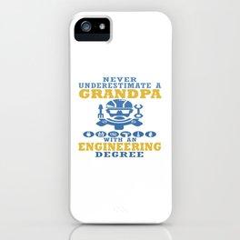 Engineering Grandpa iPhone Case