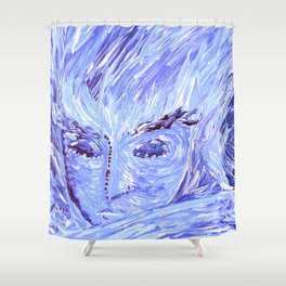 Frozen Man Shower Curtain