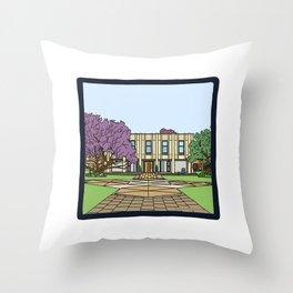Cambridge struggles: Wolfson college Throw Pillow
