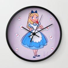 Alice Sketch Wall Clock