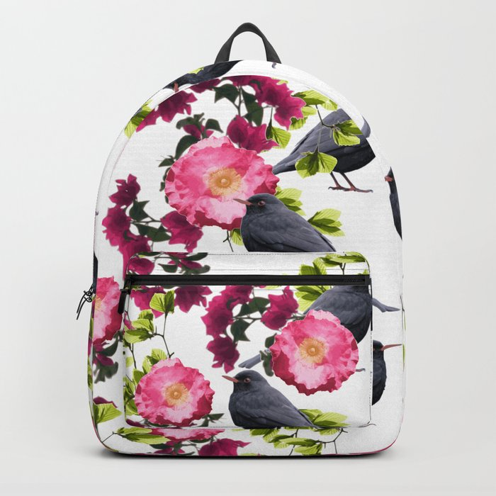Symmetrical Bird Print v2. Backpack