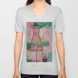 Spring Dress Form Unisex V-Neck