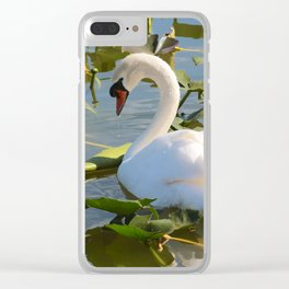 Sweet Swan Clear iPhone Case
