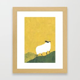 MOUNTAIN SHEEP Framed Art Print