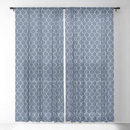 Chicken Wire Navy Sheer Curtain
