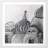 spires Art Prints featuring Spires by eckoepp