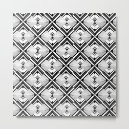iDeal - B&W Psychedelic Metal Print