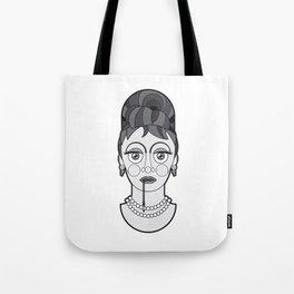 Audrey Hepburn - B&W Divas Tote Bag