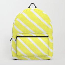 Custard Diagonal Stripes Backpack