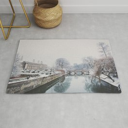 The River Cam in Cambridge in the snow.  Rug