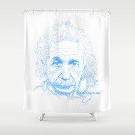 Albert Einstein (Scrumble Art) Shower Curtain