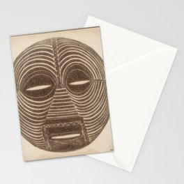 African Luba Mask Stationery Cards