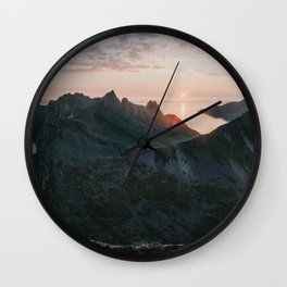 Midnight Sun - Landscape and Nature Photography Wall Clock