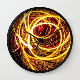 SEE YOU THROUGH THE FLAMES Wall Clock