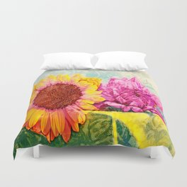 Girlfriends of Summer Duvet Cover