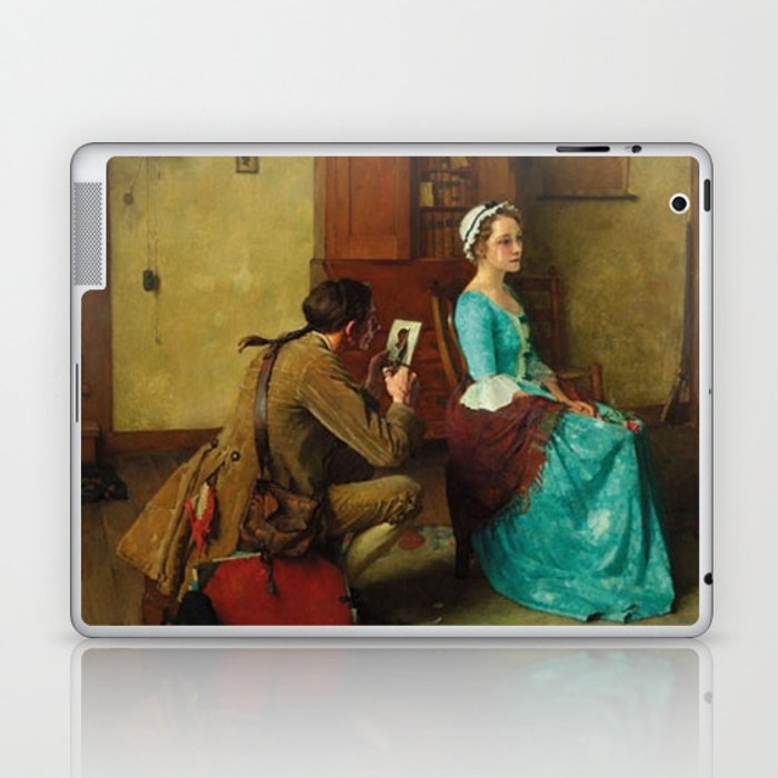 The Silhouette By Norman Rockwell Laptop Ipad Skin By Lecterart
