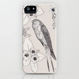Summer Swallow iPhone Case