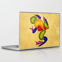 frog Laptop & iPad Skins featuring Frog by Aleksandra Mikolajczak