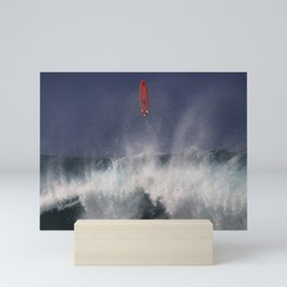 Let's go fly a surfboard on the North Shore. Mini Art Print