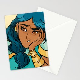 Mermista: Portrait of the most fed-up princess Stationery Cards