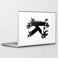 kafka Laptop & iPad Skins featuring KAFKAESQUE by THE USUAL DESIGNERS