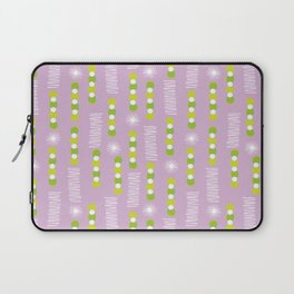 Lavender Purple Circles And Triangles With White Star Bursts Laptop Sleeve