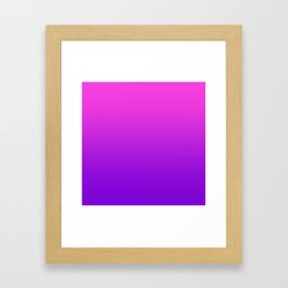 Pink to Purple Ombre Gradient Framed Art Print