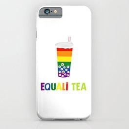 Equali-Tea Boba Bubble Tea LGBT Rainbow Pride iPhone Case