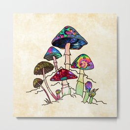 Garden of Shroomz Metal Print
