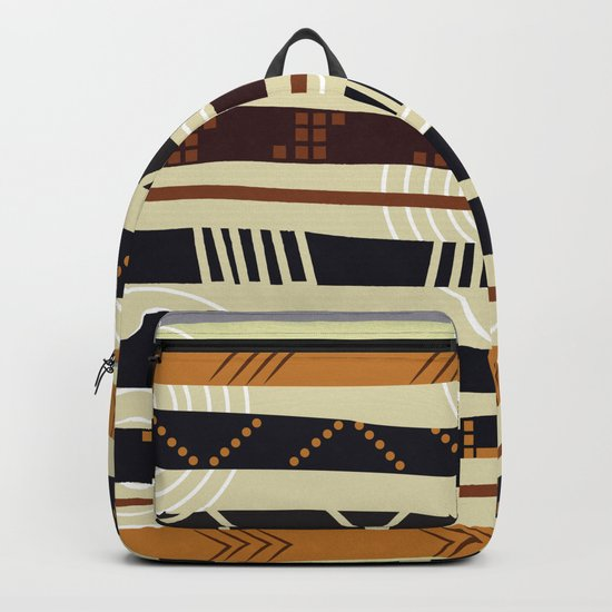 African Tribal Pattern No. 35 Backpack