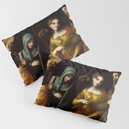 "Antonio Allegri da Correggio ""Saints Peter, Martha, Mary Magdalen, and Leonard"" Pillow Sham"