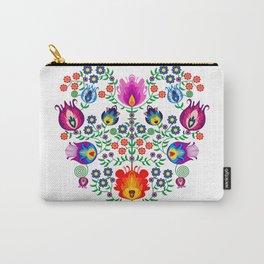 Folk Pattern - Flower Carry-All Pouch