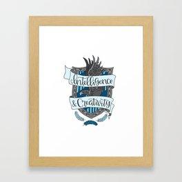 House Pride - Intelligence & Creativity Framed Art Print