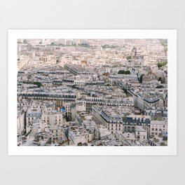 Paris City View from Sacre Coeur Art Print