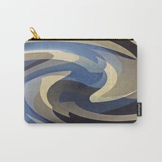 Bluetan Swirl Carry-All Pouch