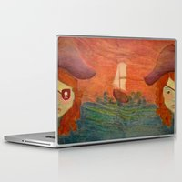 pirates Laptop & iPad Skins featuring Pirates  by CataBeja Umaña Azul