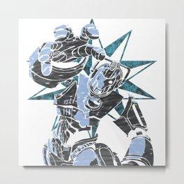 Cyber Graffiti Metal Print