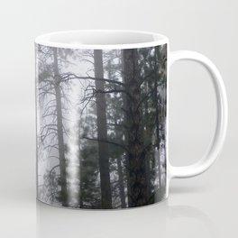 Mist Fog Ponderosa Pine Trees Coffee Mug