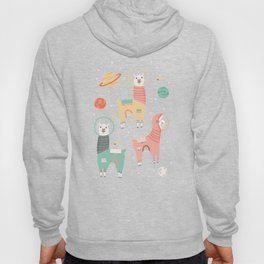 Astronaut Llamas in Space Hoody