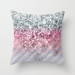 Blendeds V CL-Glitterest Throw Pillow