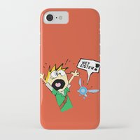 calvin hobbes iPhone & iPod Cases featuring Calvin the Timeless Hero by DonCorgi