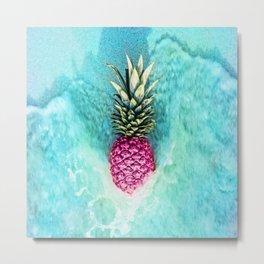 Pineapple Waves Metal Print