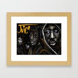 Juice 1992 Tribute Gold version Framed Art Print