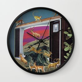 Animal Channel Wall Clock