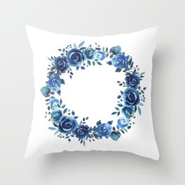 indigo-go-go-girly Throw Pillow