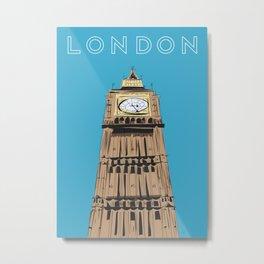 London Big Ben Travel Poster Metal Print