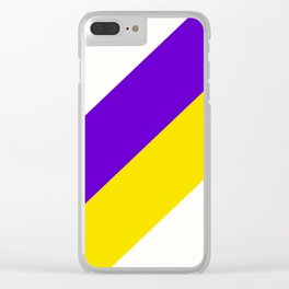 Team Colors 12....purple.yellow,white Clear iPhone Case