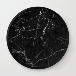 White Gold Glitter and Marble Wall Clock