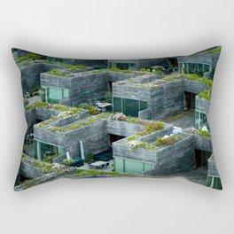 Stacked House Rectangular Pillow